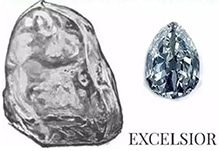Image of Excelsior diamond on white background with text saying Excelsior
