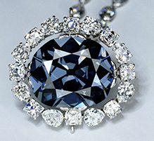 Image of The Hope Diamond on white background