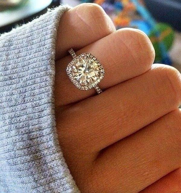 women wearing engagement ring