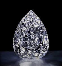 Image of the Cullinan Diamond with a black background