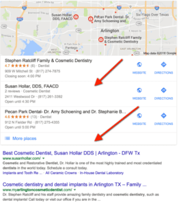 example of geo modified search term