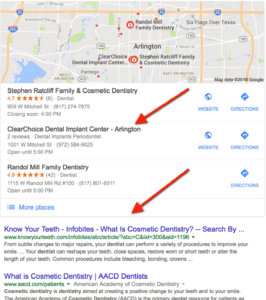 example of search without geo modifier