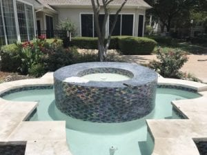 Remodeled hot tub with new tile