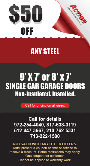 50 off Steel Single Car Garage Doors