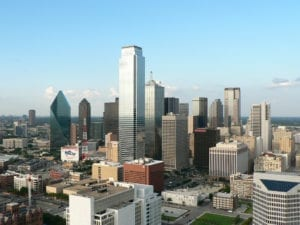 skyline view of downtown dallas, tx