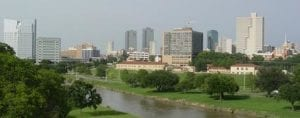 Fort Worth TX skyline