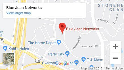 Map of Blue Jean Networks