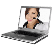 laptop video chat icon