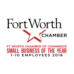 Logo for Fort Worth Chamber of Commerce Small Business of the Year