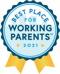 A bande for the Best Place for Working Parents Award
