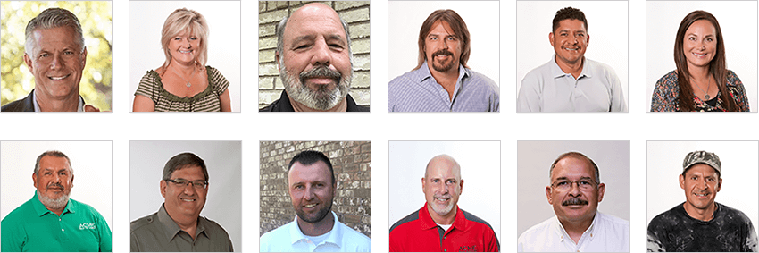 collage of Acme Roof Systems employee headshots