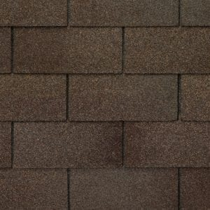 Close up photo of GAF's Royal Sovereign Ash Brown shingle swatch