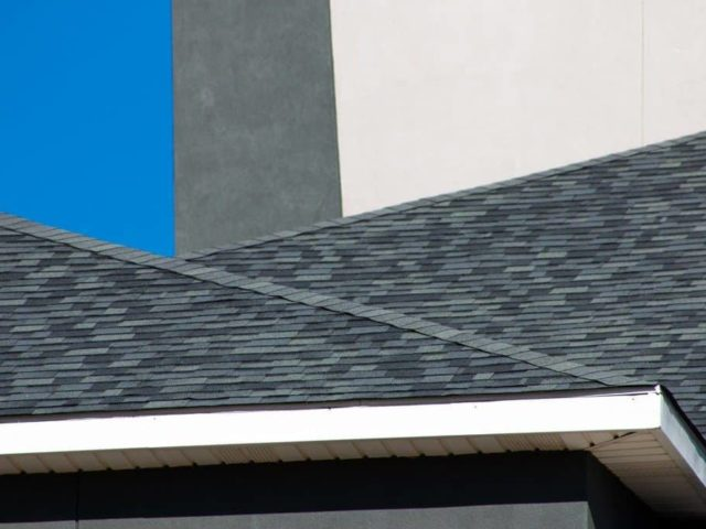 Close up of shingles on a hotel