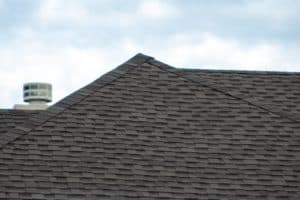 close up of a roof with new shingles
