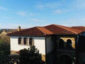 beautiful brown clay tile roofing