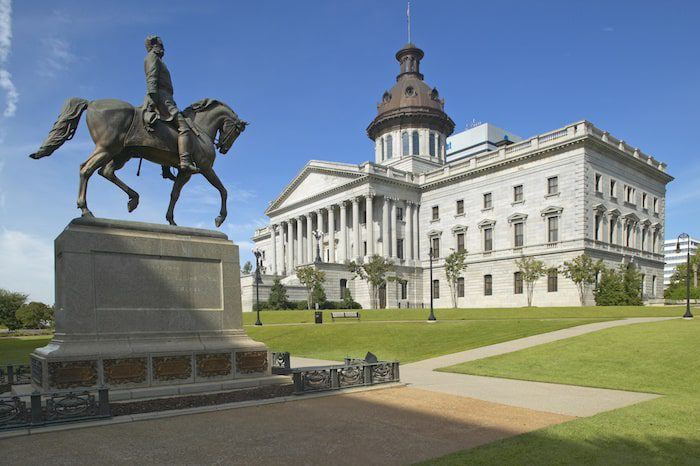 The State Capitol of South Carolina in Columbia