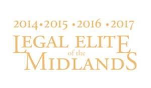 Legal Elite of the Midlands badge for the years 2014-2017