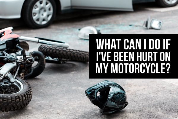 Motorcycle wreck involving a car