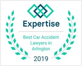 2019 Best Car Accident Lawyers in Arlington badge from Expertise