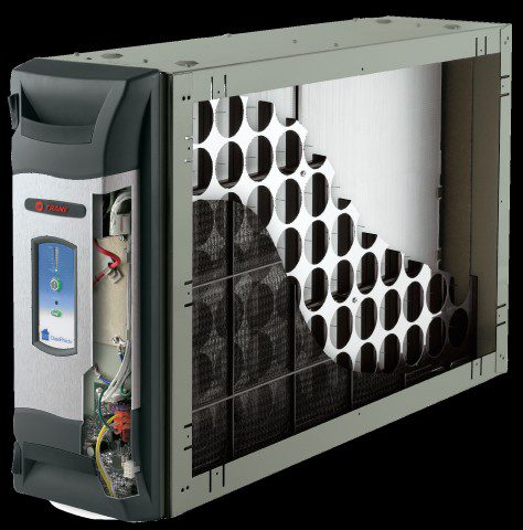 A cutaway image of a Trane Clean Effects Air Purifier
