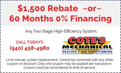 Coupon for $1,500 rebate or 60 months 0% financing