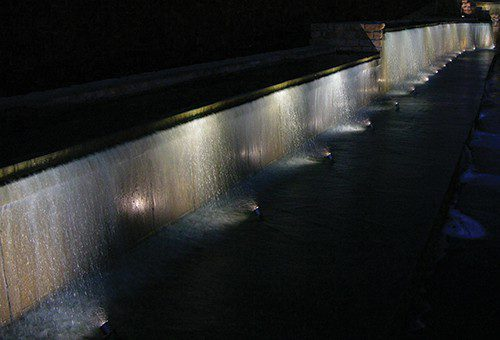 A Waterfall at night