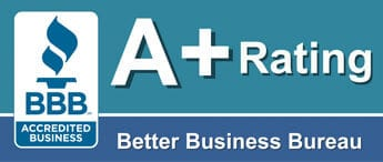 Better Busines Bureau A+ Rating badge