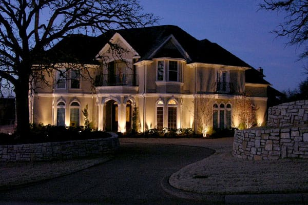 A beautiful display of outdoor lighting