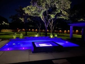 pool lighting with landscape lighting