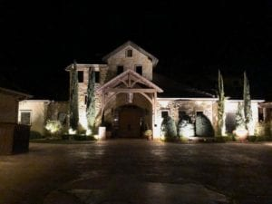 exterior lighting outside of a beautiful home