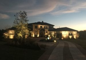 outdoor lighting to light up a home