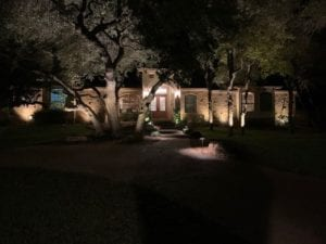 security lighting at front door of a home