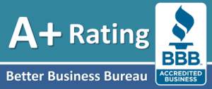 A+ rating better business bureau seal
