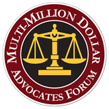 Multi-Million Dollar Advocates Forum badge