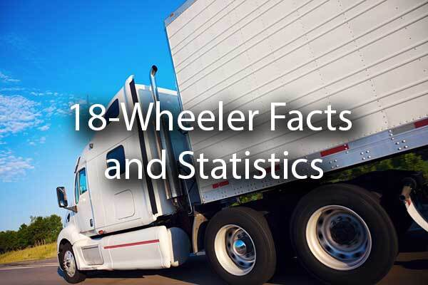"An 18-Wheeler with the words, ""18-Wheeler Facts and Statistics."""