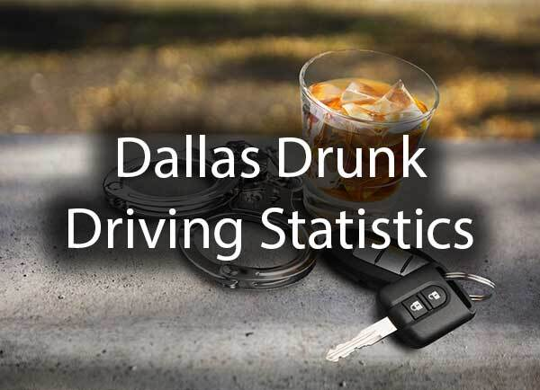 "A set of keys, handcuffs, next to a drink with the words, ""Dallas Drunk Driving Statistics"