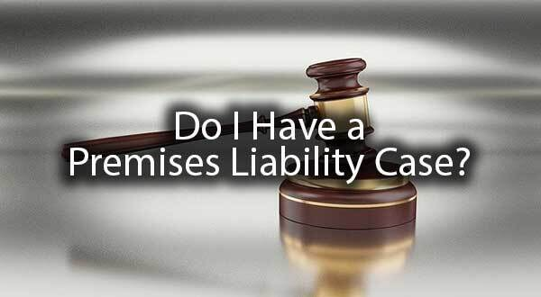 "A gavel with the words, ""do I have a premises liability case?"