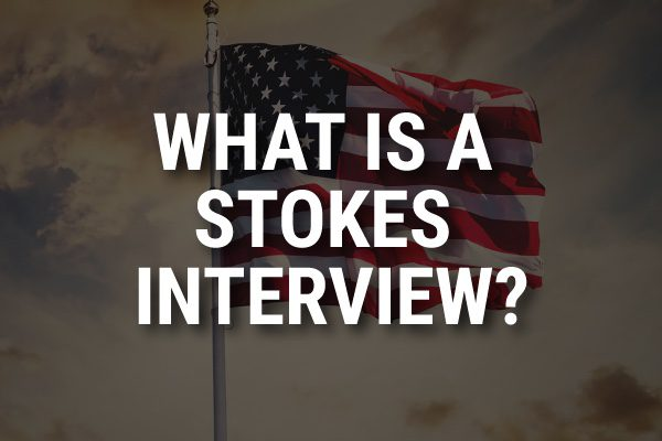 """An American flag with the words, """"what is a tokes interview?"""""""