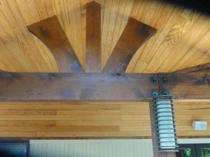 Up close of wooden beams