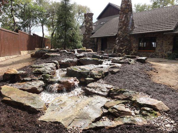 Rock river water feature