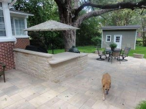 Patio made of clean cut stones