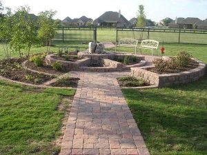 Brick landscape design