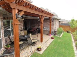 Back patio covered by pergola