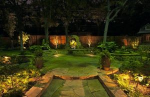 A gorgeous landscape lit up by beautiful backyards light.