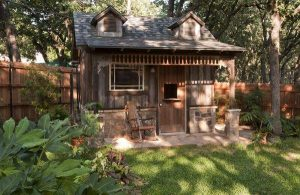 Cute wooden backyard shed