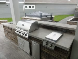 brand new outdoor kitchen