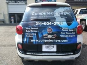 Computech SVS company car with vinyl car wrap