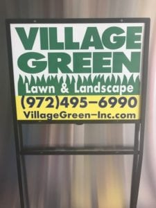 Sign for Village Green Lawn & Landscape