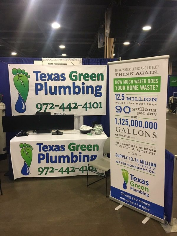 Banner and sign for Texas Green Plumbing