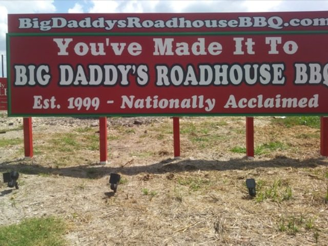 Big Daddy's Roadhouse BBQ Billboard